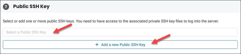 BMC publich SSH key field.