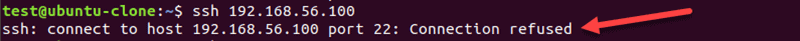 SSH wrong port connection refused error