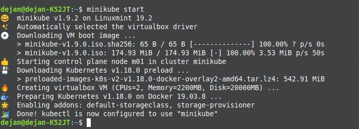 The command to start Minikube on Ubuntu.