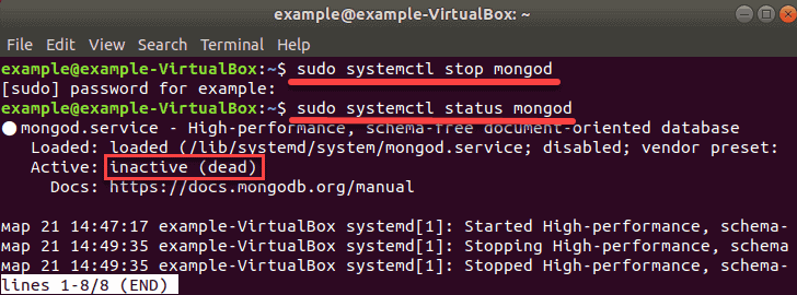 disable the database service so it does not start on boot