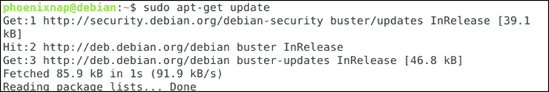 Command to update your software repository list
