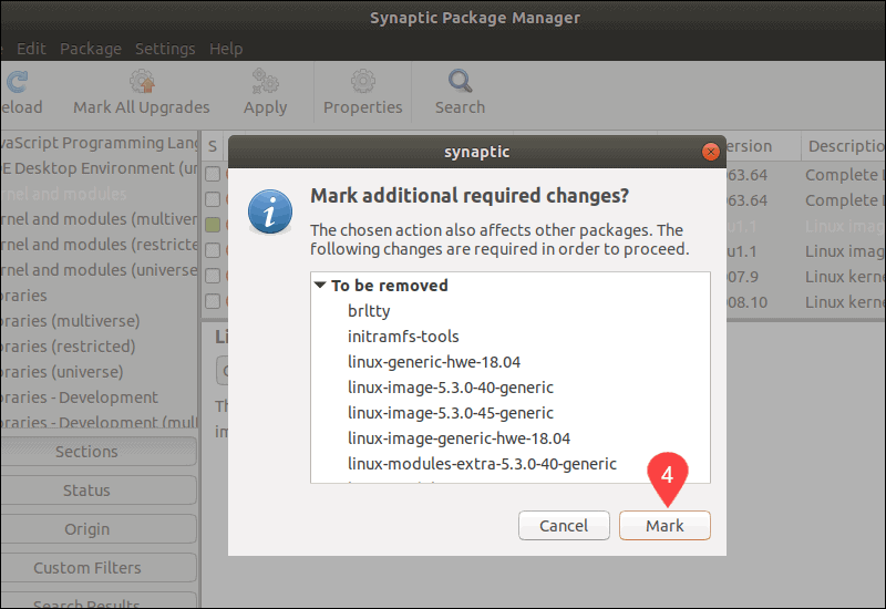 If necessary the systems infroms you that dependent packages need to be removed as well.