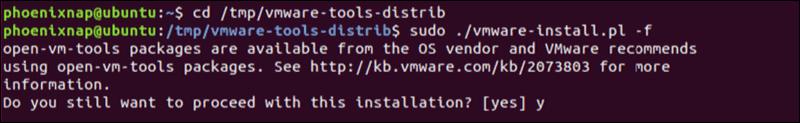 terminal install procedure on ubuntu