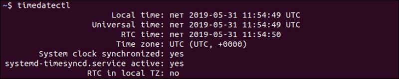 current time and date in Ubuntu