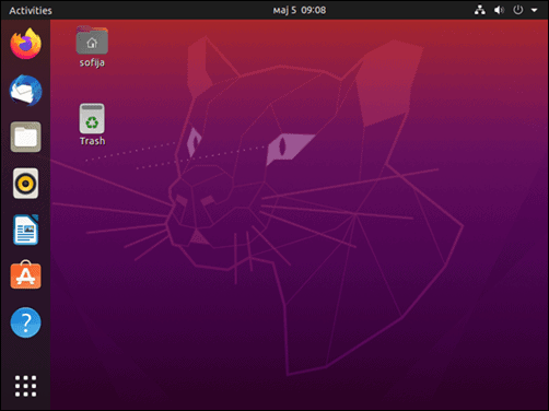 Ubuntu 20.04 desktop successfully installed and upgraded