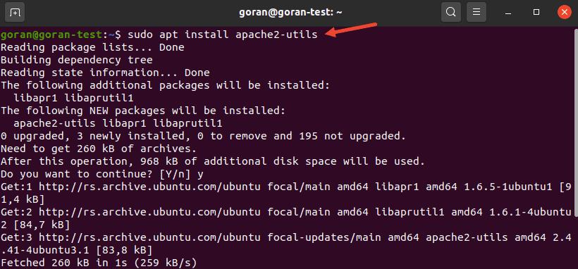 Installing apache2-utils on Ubuntu