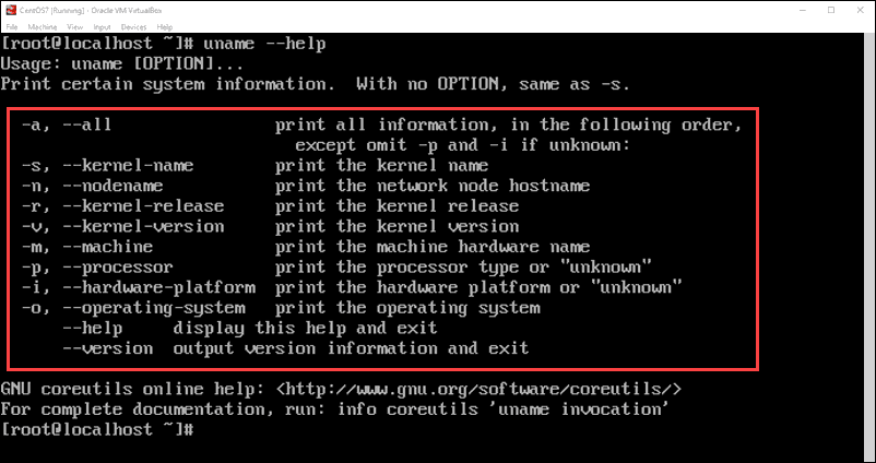 uname command for more kernel information