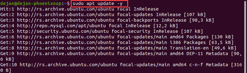 Update Ubuntu/Debian repository list.