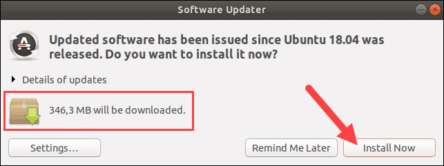 Update software packages on Ubuntu.