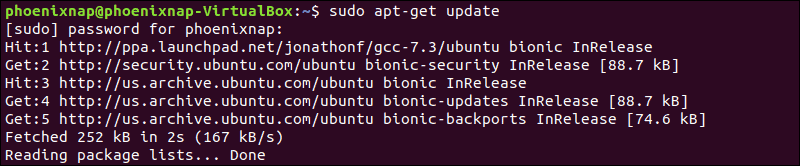 updating the ubuntu repository using apt-get update