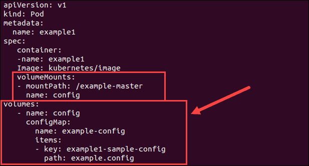 Use ConfigMap as volume.