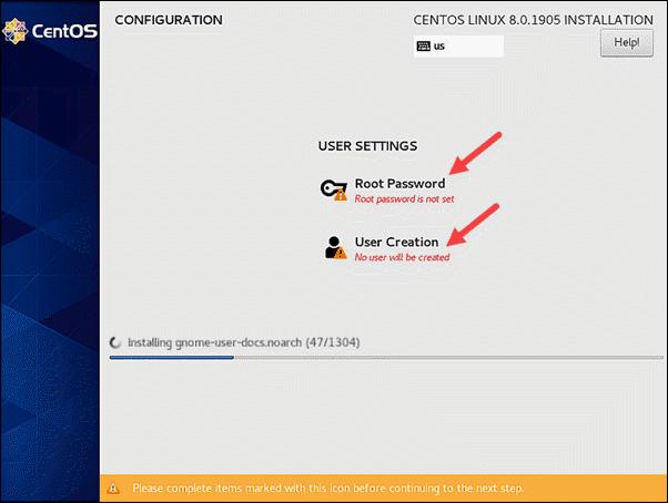 Configure user settings