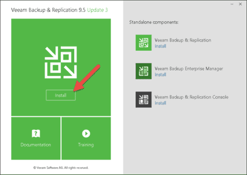 veeam backup and replication installation