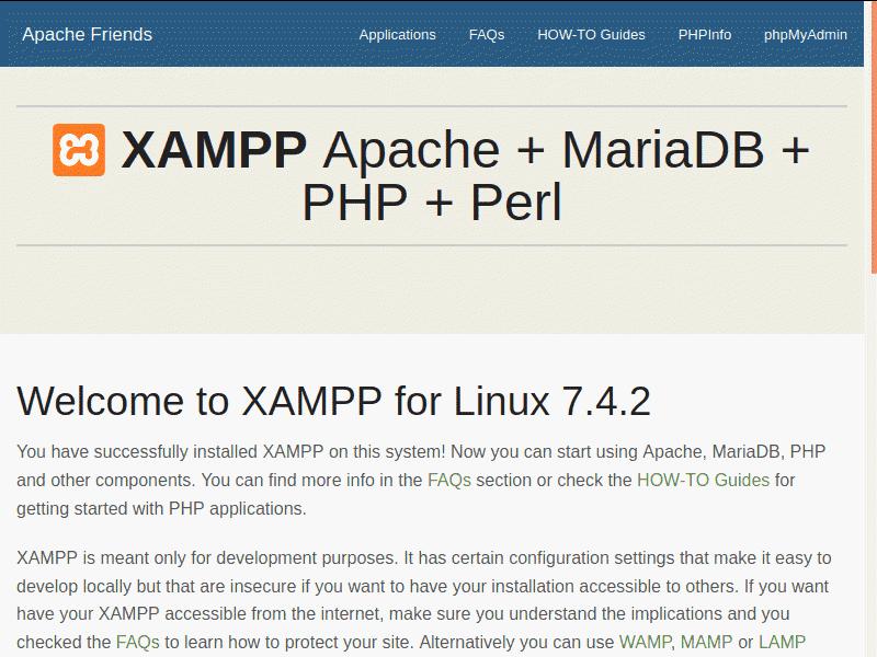 How to verify XAMPP installation.