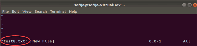 using vim to make a new file in Linux