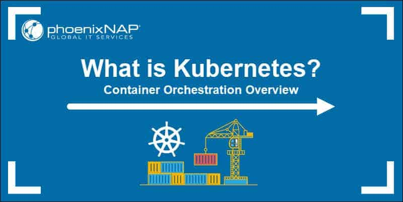 Stylized image of a crane lifting containers that is meant to represent Kubernetes.