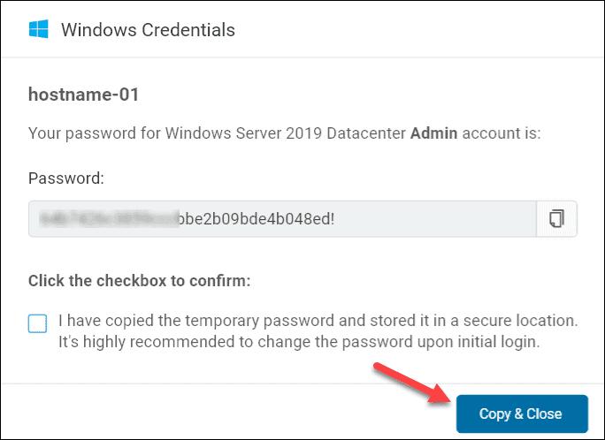 BMC Windows credentials box