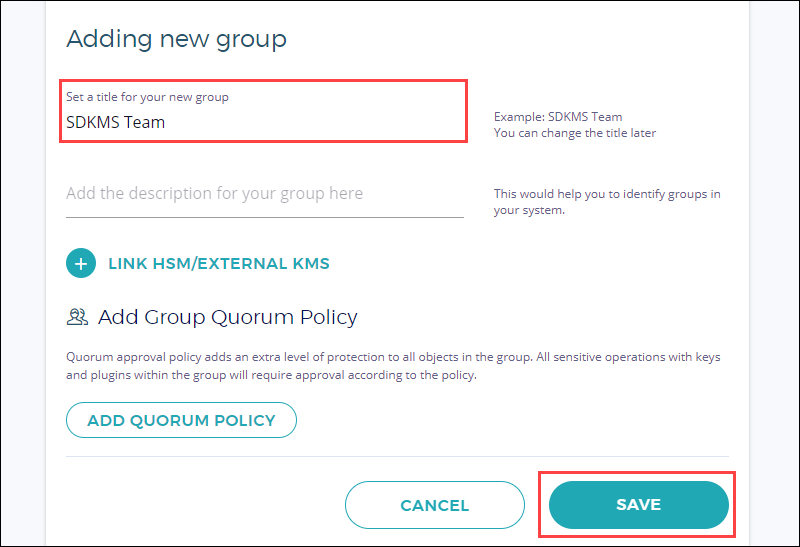 New Group Information