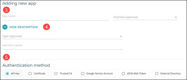 Configuring a new app onto EMP.