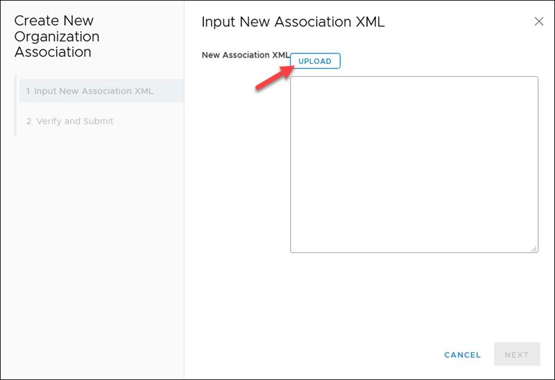 Upload XML file to Cloud Director