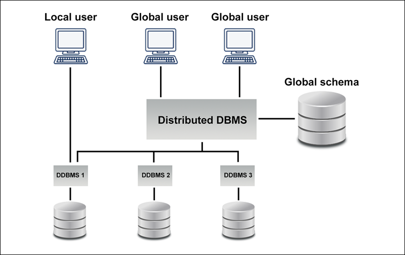 Example of a heterogeneous database.