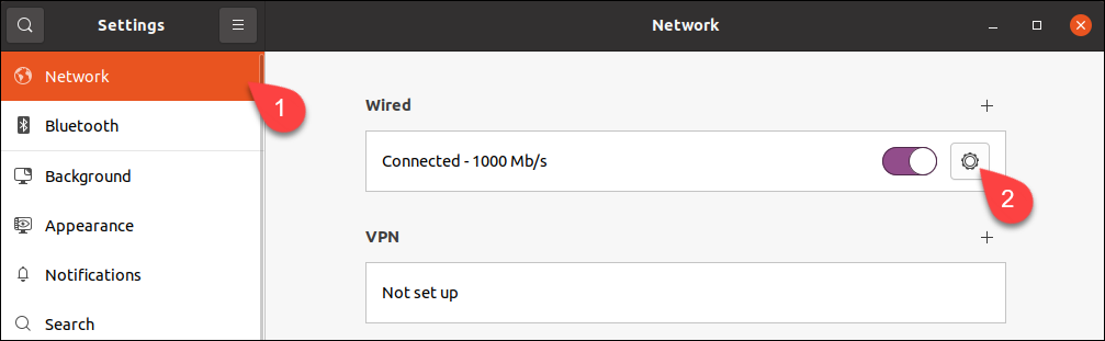 Finding network settings for a specific network in Ubuntu