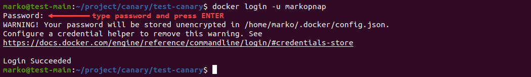 Logging in to Docker Hub using the command line