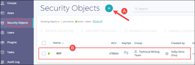 Getting started with PhoenixNAP's EMP security objects.
