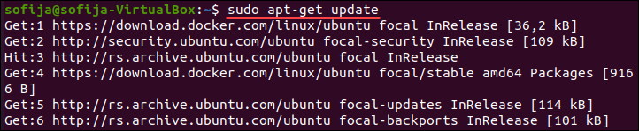 Use the apt-get command to update the package repository.