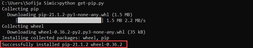 Install PIP on Windows.