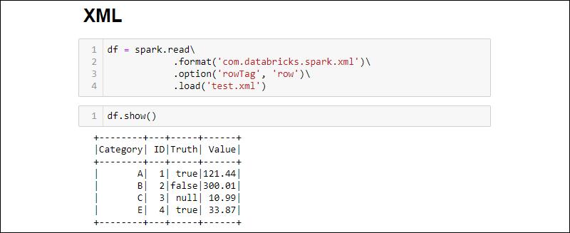 Creating a Spark DataFrame from an XML file