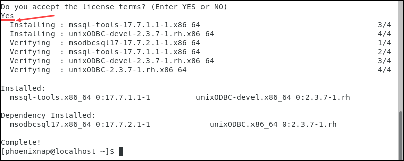 Installing the SQL Server command-line tools