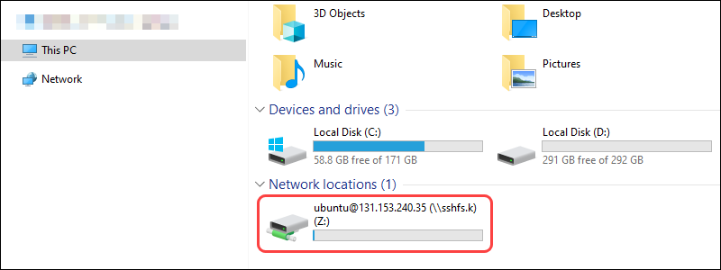 Mounted file system in Windows Explorer
