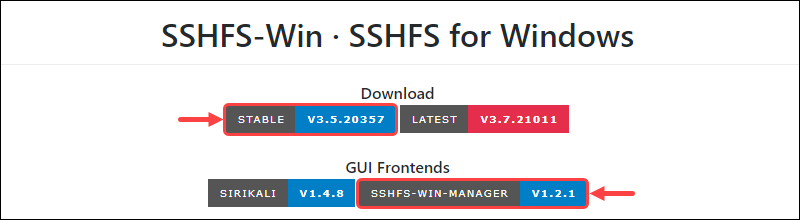 SSHFS-Win Download Page