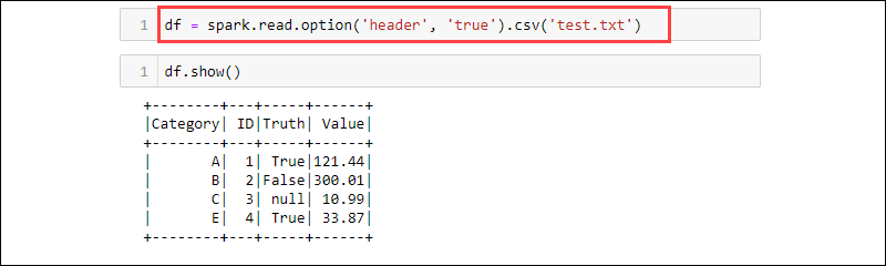 Reading a text file as a CSV into a DataFrame