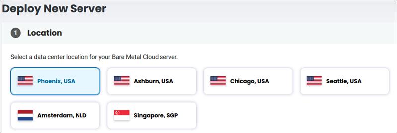 BMC server location selection