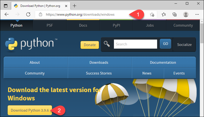 Downloading the newest version of Python for Windows