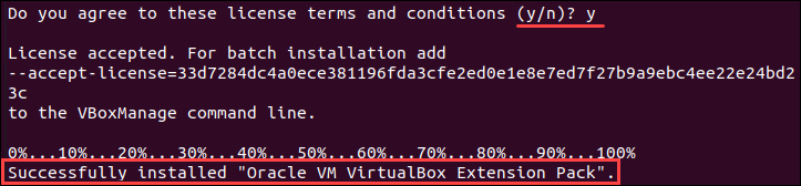Install VirtualBox extension pack on Ubuntu from Oracle repository.