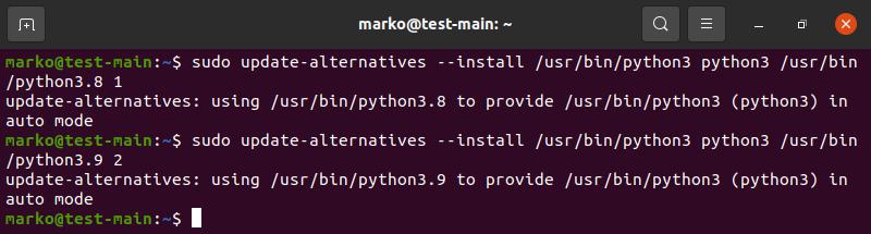 Adding Python 3.9 to update alternatives