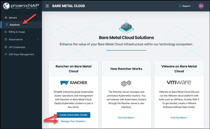 BMC portal solutions tab