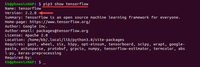Check TensorFlow version before upgrade