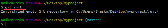 Creating a local Git repository.