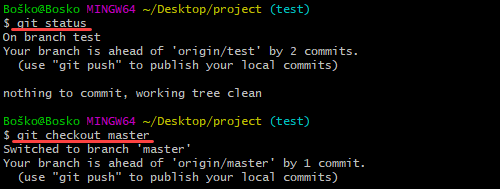 When running git merge, make sure you are on the receiving branch.