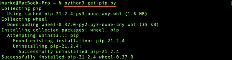Install pip via get-pip.py.