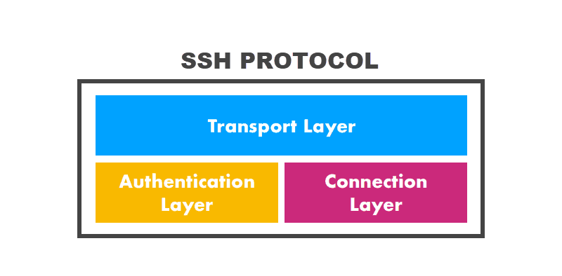 Layers comprising the SSH protocol