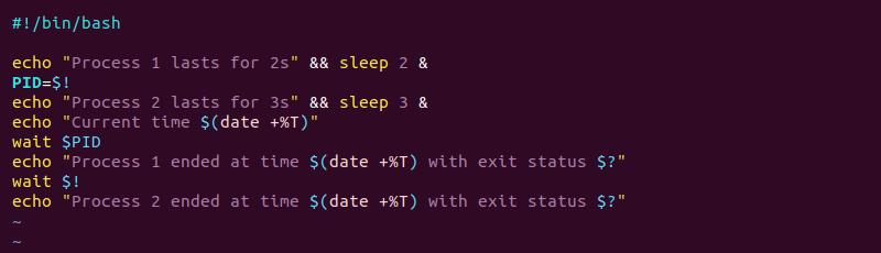 Multiple processes wait bash script with PIDs