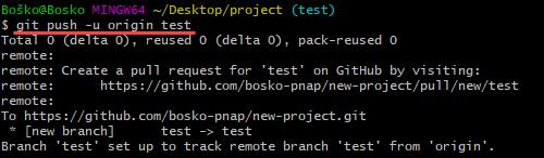 Setting an upstream branch in Git.
