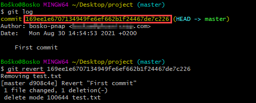 How to undo the last commit on Git.