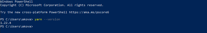 Verify the installation in the PowerShell