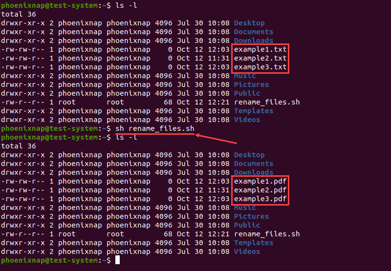 Renaming multiple files using a bash script